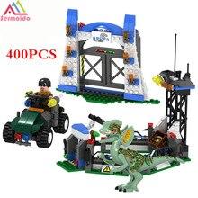 2017 LELE 400Pcs Bela 79180 Jurassic World Park Raptor Escape Building Blocks Kits Sets Hoskins dinosaur Compatible Lepin B315