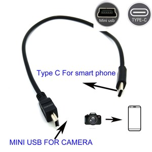 Image 4 - TYPE C to mini usb OTG CABLE FOR canon EOS 100D 80D 70D 5D2 5D 5D  50D 30D 300D  Camera to phone edit picture video