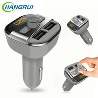 Hangrui 5V 3 4A Dual USB Car Charger Wireless Bluetooth FM Transmitter MP3 Universal USB Charger