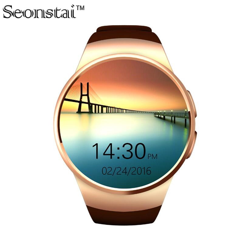 Heart Rate Monitor Smart Watch KW18 SIM TF MTK2502C font b Smartwatch b font Touch Screen