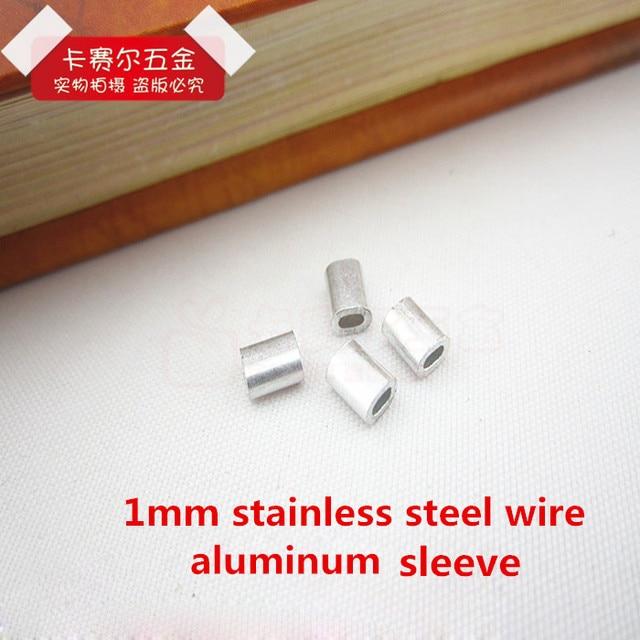 1mm Aluminium ärmeln Durchmesser Runde Aluminiumhülsen Drahtseil ...
