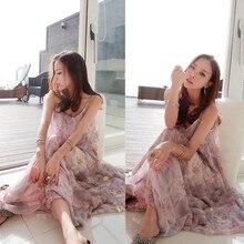 Women dress elegant bohemian beach summer dress ultra perfect Sleeveless long dress chiffon