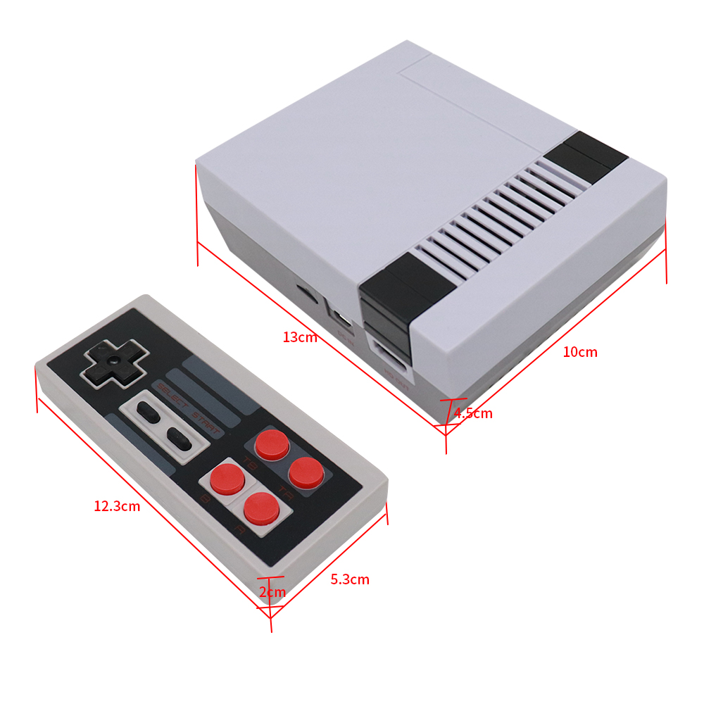 MINI Retro Classic Handheld Game Player Family TV Video Game Console HDMI Port 600/621 8 Bit Games Built In TF Card Dual Gamepad