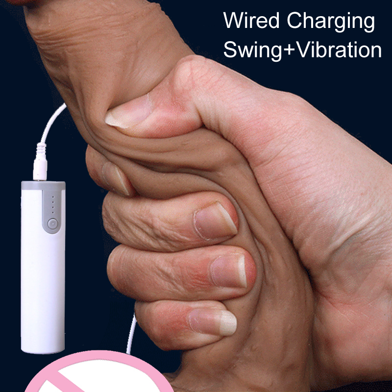 Remote control charging Swing Vibration Realistic Dildo Vibrator Male Artificial Penis Soft Dick Sex Toys For Woman Sex Products electric heating penis silicone realistic big dildo vibrator sex toys for woman lifelike huge dick foreskin usb charging