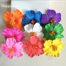 8c8443585ec HappyKiss flower 36pcsFoam Hawaiian flower Hibiscus Flower bridal hair clip  9cm pin pick flower jewelry frangipani