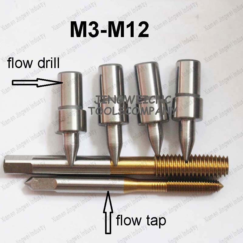 Tunsten carbide flow drill M3 M4 M5 M6 M8 M10 M12 form drill standard round type and thread forming tap