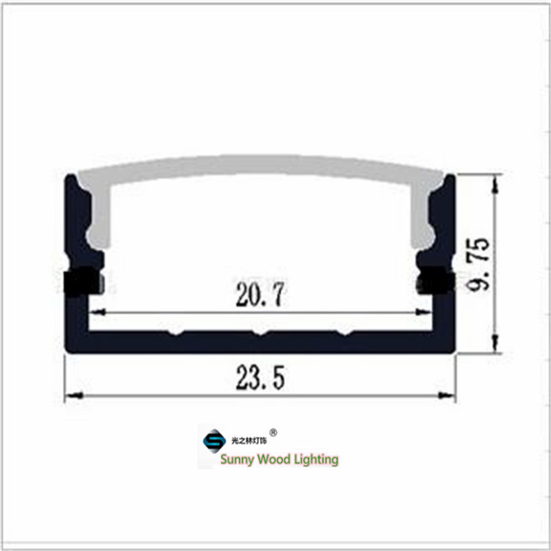 Image 2 - 5 30pcs/lot 40inch 1m flat aluminum profile for double row led strip,milky/transparent cover channel for 20mm pcb with fittings-in LED Bar Lights from Lights & Lighting