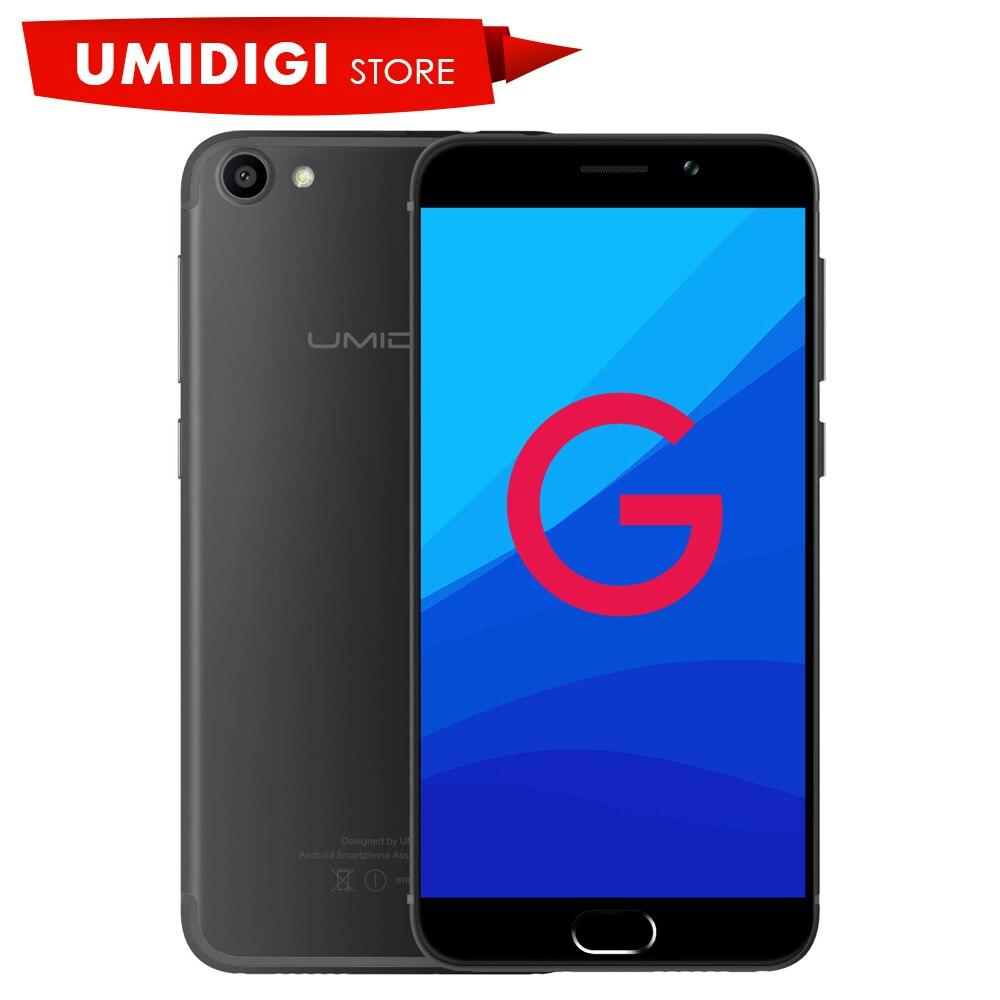 """Цена за Оригинал umidigi g mtk6737 quad core 1.3 ГГц android коммуникатор 2 ГБ ram 16 ГБ rom передняя touch id 5.0 """"премиум Свет Мобильного Телефона"""