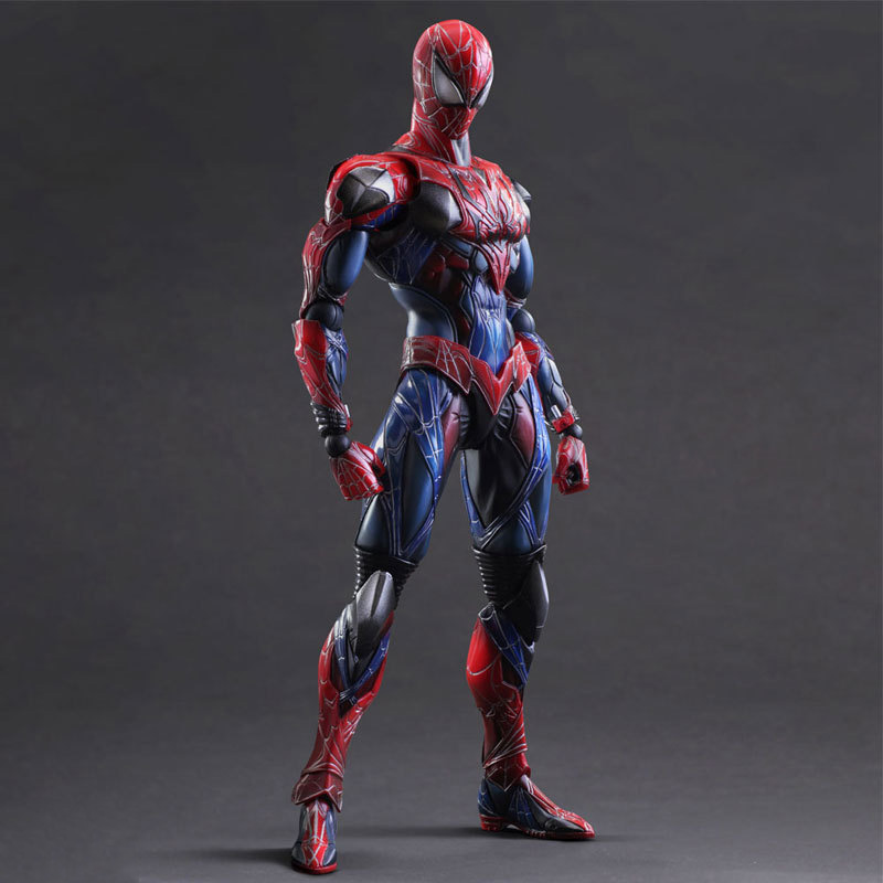 Tobyfancy Spiderman Play Arts Kai PVC Action Figure Superhero Spider-Man Collection Model Toy model fans spider man action figure venom spride collection model toys play arts kai amazing spiderman play arts venom