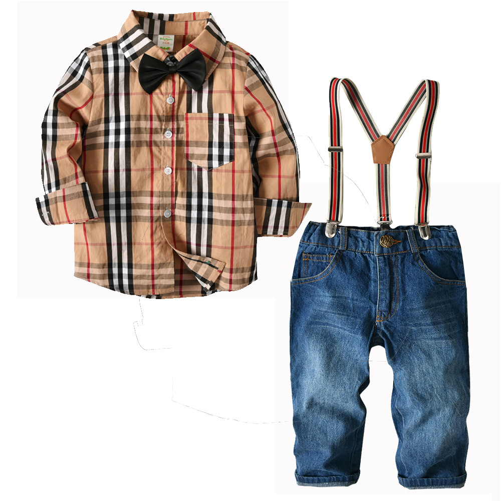 summer children clothing boys clothes 2 3 4 5 year Sulange shirt denim pants suit trousers shirt sleeve Boy Scout toddler sets summer baby boy clothing set jeans pants white gray t shirt children clothes 3 pieces sets for boys suit outfits 1 2 3 4 5 6 y