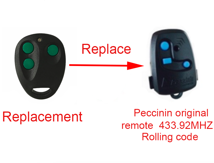 2 pieces/lot!  Peccinin replacement remote control 433.92Mhz peccinin replacement remote control 433 92mhz free shipping