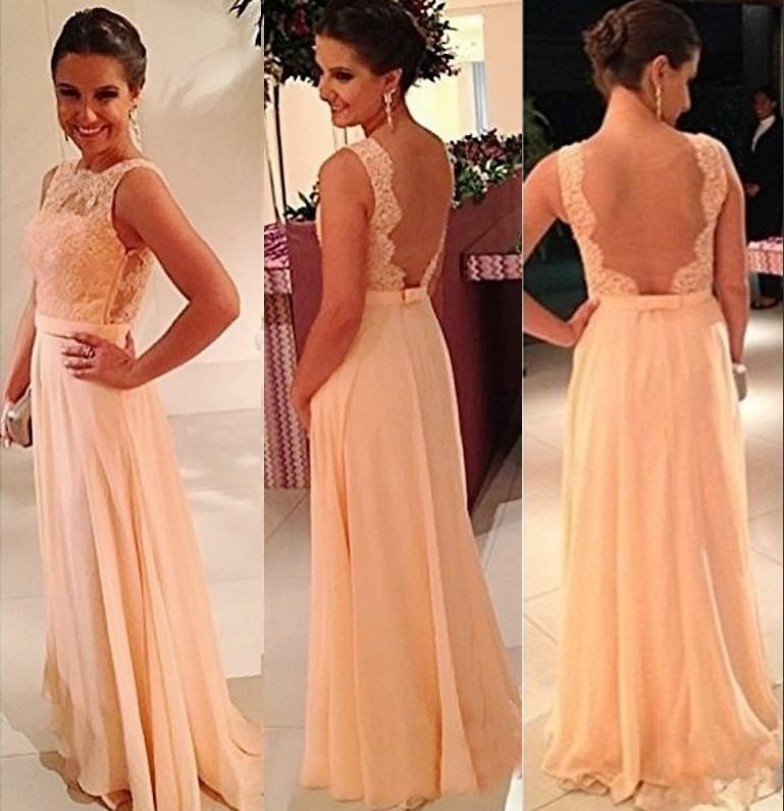 2016 Best Sale Cheap Sleeveless Bow Sash Accessory Peach/Ivory/Pink/Champagne/Red Lace Chiffon   Bridesmaid     Dresses   Fast Shipping