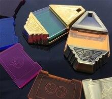 Numérique monstre classique Souvenir ensemble pendentif or / Bronze Digimon Adventure Collection collier Cosplay Badge tri crêtes Tag