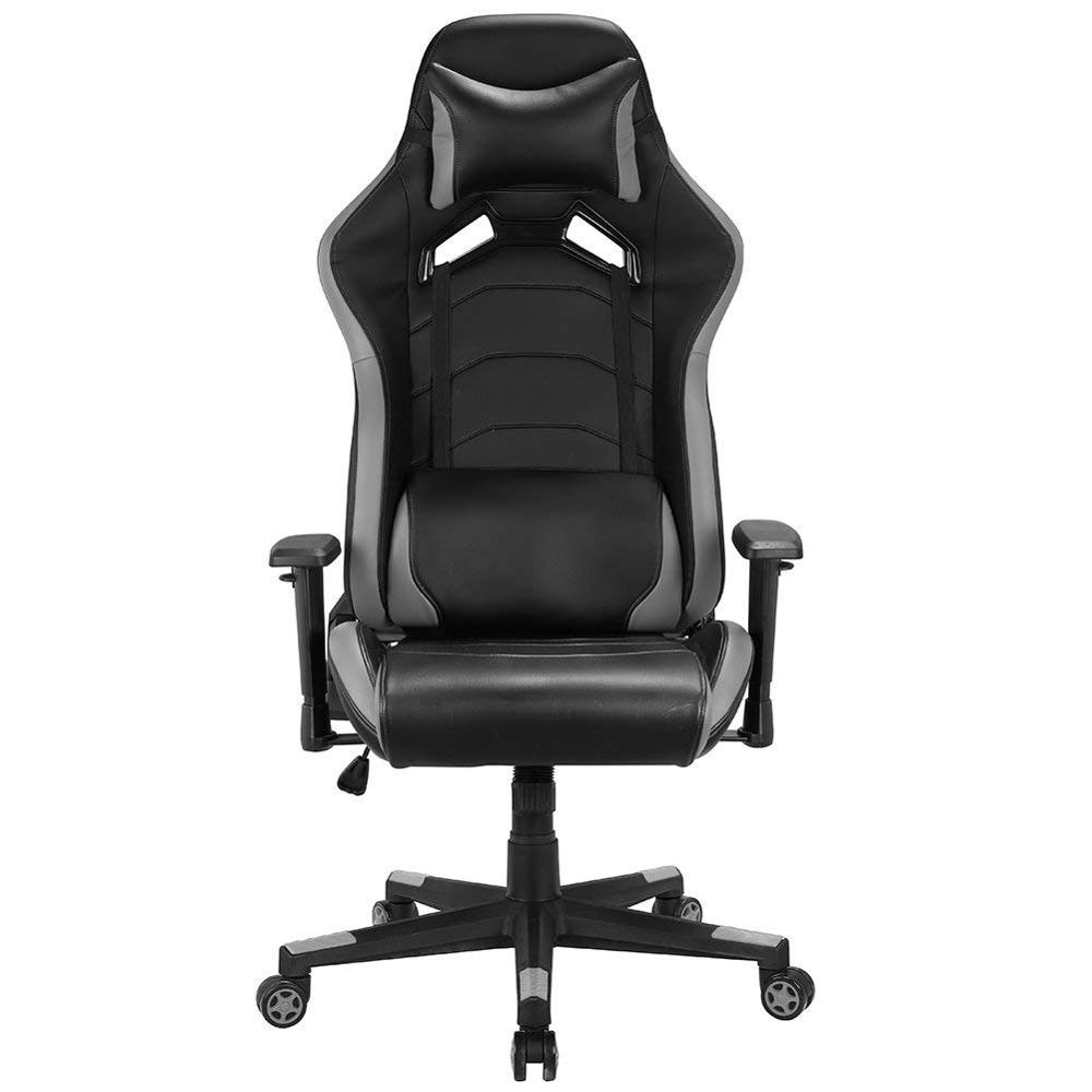 Racing Gaming Executive Chair Racing Sport Style PU Swivel Office Chair Adjustable Head Pillow Movable Lumbar Cushion GB