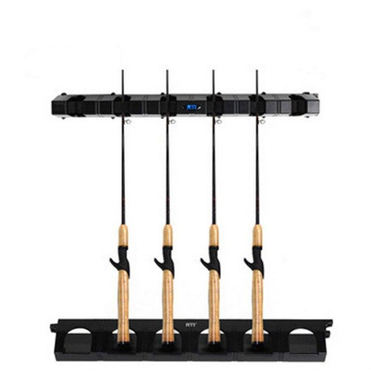 ABS Angelrute Pole display rack regal halterung sammlung flugzeug zeigen 6 stangen halter feste ablagerung