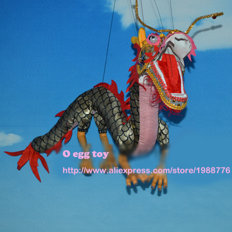 Dragon Dance Marionette Doll Animal Muppet Hand Puppets Toys Wool Rope Dragon Marionette A Doigts  Puppet Marionette Toys