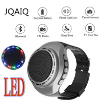 U6 Colorful Running LED Cool Wrist Watch Buetooth Speaker Sports Music FM Radio Support 8GB 16GB TF Card