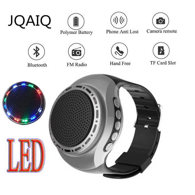 U6 วิ่งสีสัน LED นาฬิกาข้อมือ Bluetooth ลำโพงกีฬาสนับสนุนวิทยุ FM 8 GB 16 GB TF Card
