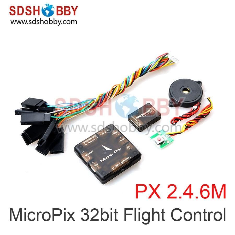 ФОТО MicroPix 32bit Flight Control Pixhawk 2.4.6 PX4 Flight Controller for Quadcopter Multicopter Drones
