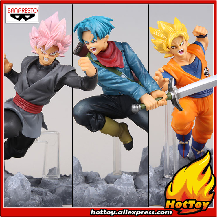 Original Banpresto soul X soul Collection Figure - Son Goku & Trunks & Super Saiyan Rose Gokou Black Set Dragon Ball SUPER джемпер brave soul brave soul br019ewulg38