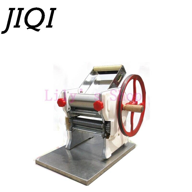 JIQI Manual Stainless Steel Noodle Pressing Machine Hand Crank Pasta Maker Dumpling Wonton Dough Rolling Hanger Spaghetti Cutter