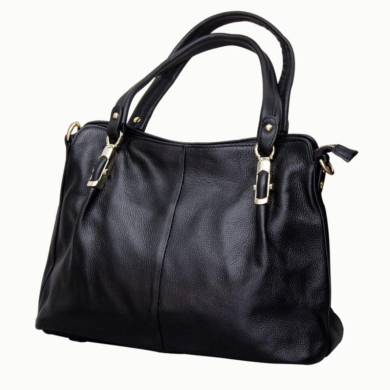 2019 Soft 100 Real Leather Female Single Shoulder Bag Cowhide Middle aged Vintage Women Handbag High