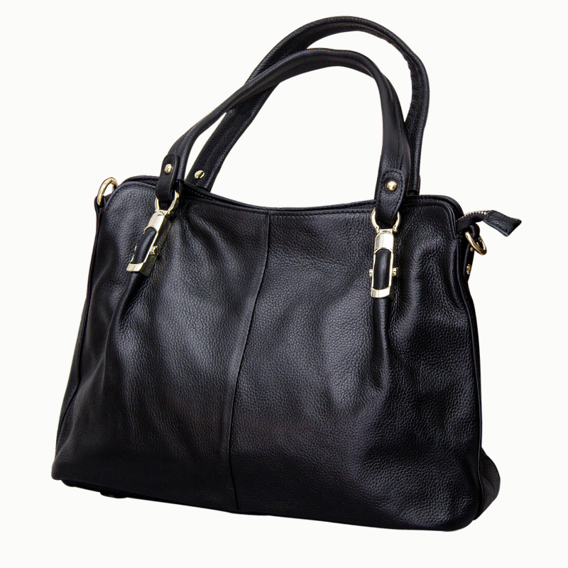 Soft  Real Leather Female Single Shoulder Bag Cowhide Middle aged Vintage