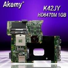 Akemy K42JY HD6470M 1G платы REV4.1 для ASUS A42J X42J K42J K42JR Материнская плата ноутбука 60-N1YMB1100-B23 тестирование работы