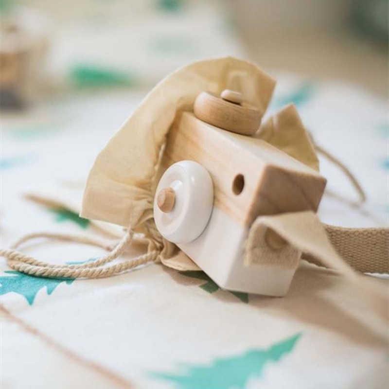 Carino Macchina Fotografica In Legno Giocattolo Vitoki Ornamento per I Bambini di Abbigliamento di Moda Accessorio Blu Rosa Bianco Verde Menta Viola Regali Di Natale