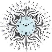 Nordic fashion Living room electronic clock Creative Iron art wall studio geometric Starry Luminous