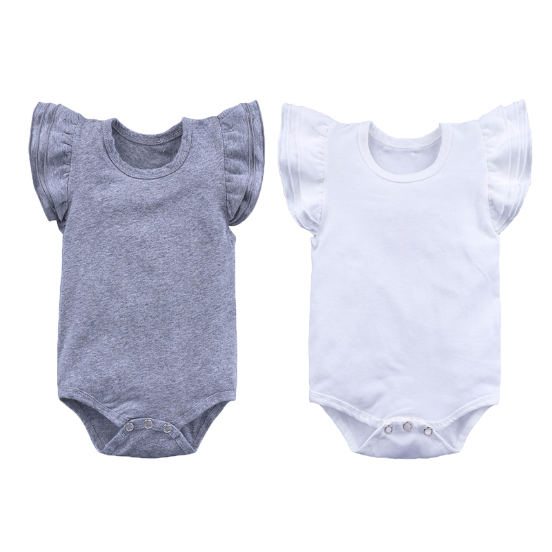 Baby Rompers Summer Newborn Baby Clothes Solide Baby Girl Clothing Sets Short Sleeve Infant Jumpsuits Roupas Bebe Kids Clothes