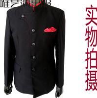 Черная одежда мужчины китайский туника костюм homme terno Сценические костюмы для певцов куртка мужчины пиджак Танцы звезда стиля Стенд воротни
