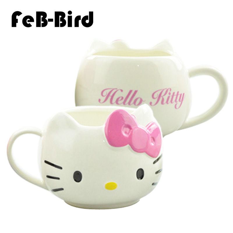 Hot Funny Cat Tea Cups And Coffee Mugs For Home And Office Mugs Hello Kitty Mugs As Christmas Gift For Daughter Girl Friend Durable In Use Drinkware
