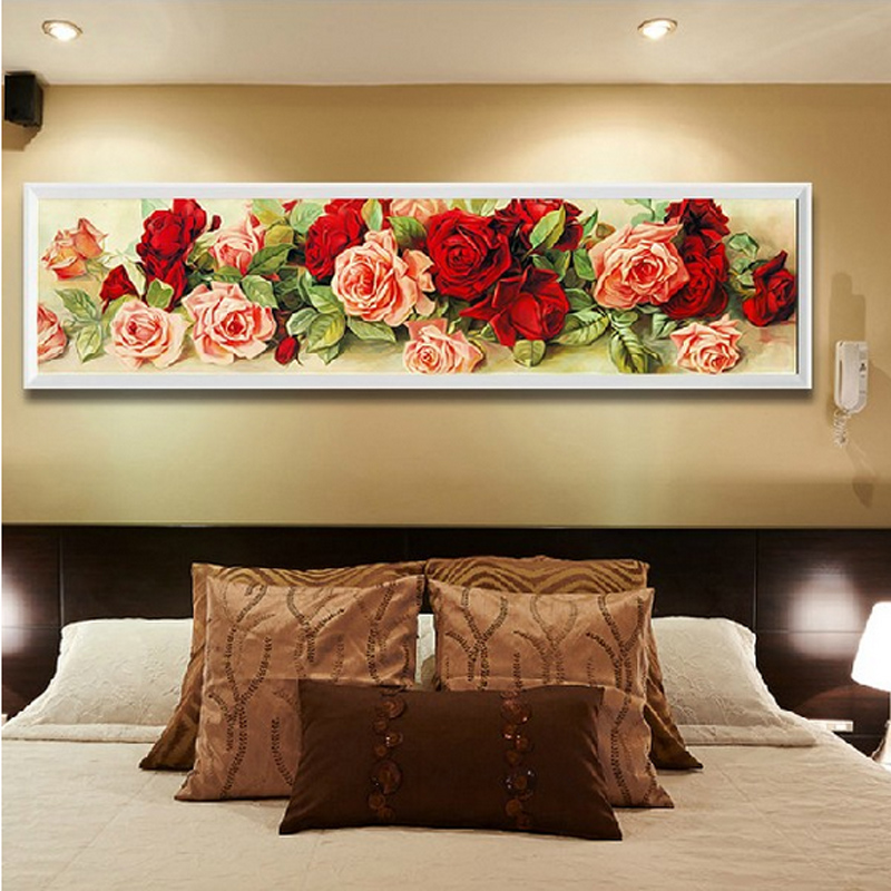 Home decoration diamond painting rhinestone cross stitch for Rose home decorations