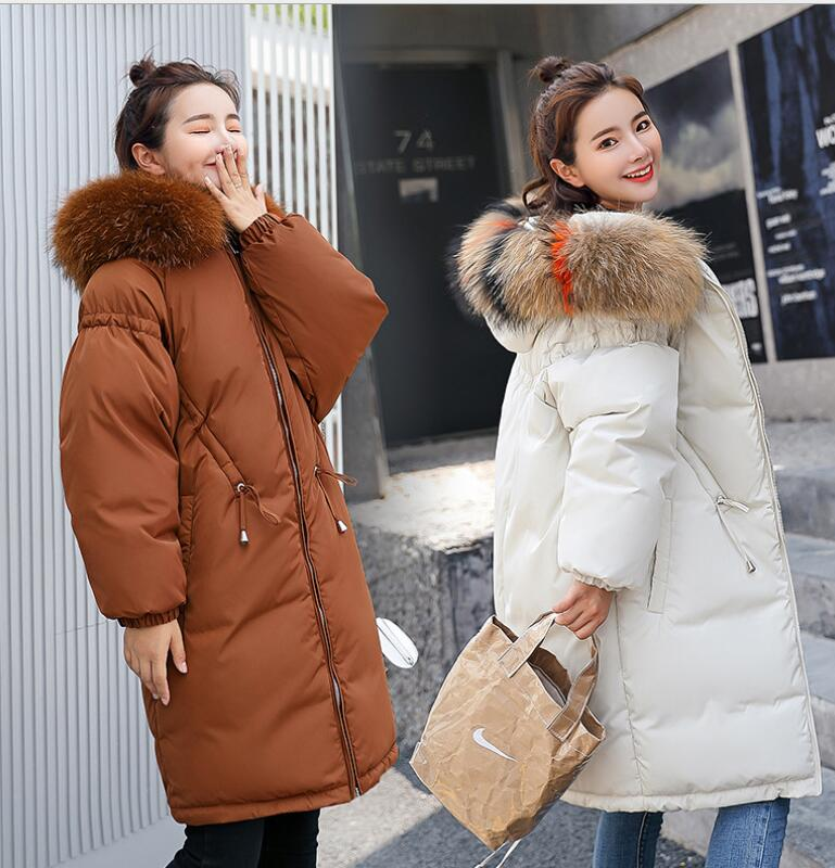 Hot Maternity Winter coat Hooded Fashion Oversize fur collar Thicken Down Coat Pregnant Women down jacket Pregnancy Outerwear