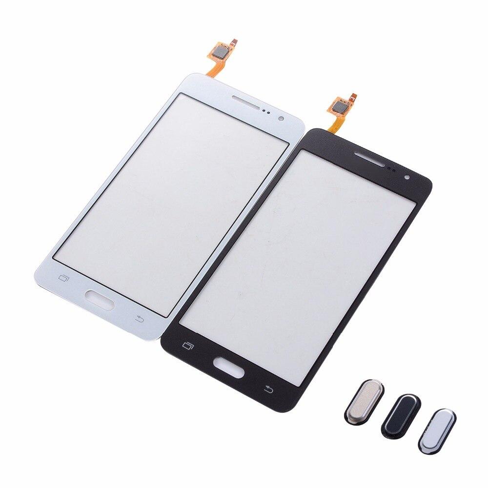Сенсорный экран с дигитайзером для Samsung Galaxy Grand Prime G530F G530H G531F G531H, передняя стеклянная панель + Кнопка возврата, клавиатура