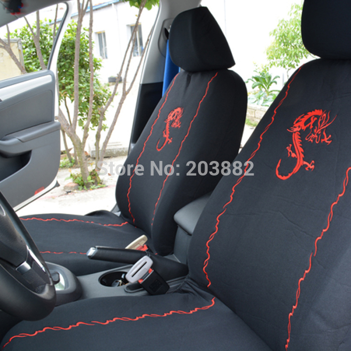 Dragon Embroidery Design Girly Front Rear Car Seat Covers Set Protector For Vehicle Universal In Automobiles From Motorcycles