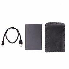 External HDD Enclosure for Hard Disk USB2.0 Sata Durable Portable Case 2.5″ Inch Hdd Hard Drive Case High Quality Black HDD Box