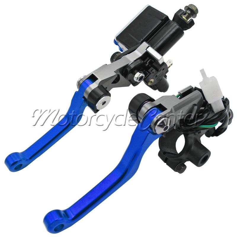 Motorcycle 7/8 22mm Brake Master Cylinder Reservoir Lever For Yamaha YZ 125 250 250F 426F 450F 250FX XT250X TTR250 TRICKER Blue