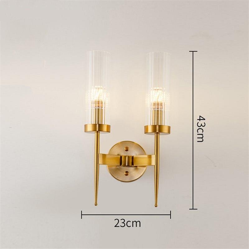 Пост современный золотой настенный светильник спальня кухня лестница Led настенное зеркало с подсветкой промышленный декор столовая Прихожая стекло освещение приспособление - 2