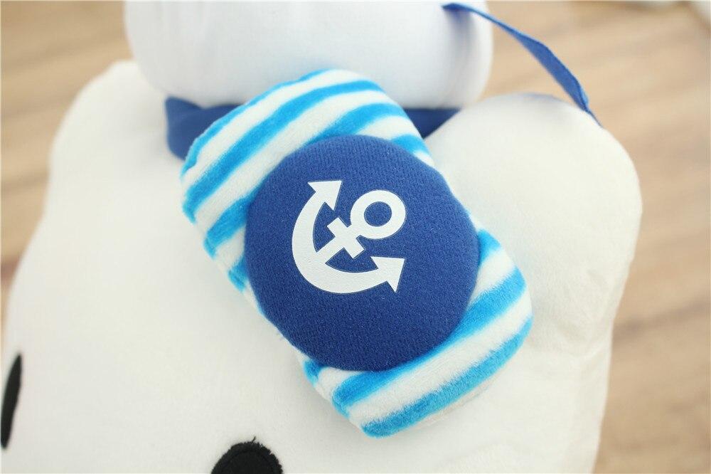 Costume bleu marine conception kitty étreint petit dauphin, charmant kitty environ 35 cm peluche doux oreiller, cadeau de noël h369 - 3