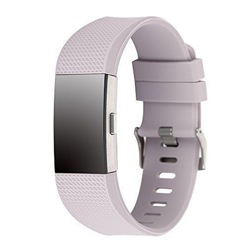 Silicone strap band Pin Buckle Fitness Smart bracelet watches Replacement Sport Wristband Strap Bands for Fitbit Charge 2