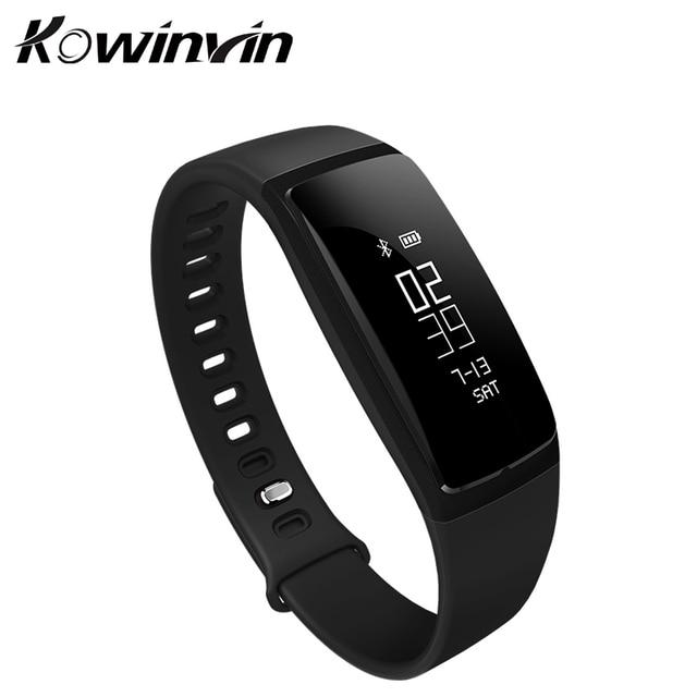 1f56751095d9 V07 banda smart watch pulsera inteligente de la presión arterial monitor de  ritmo cardíaco smartband pista de fitness inalámbrico para android ios ...