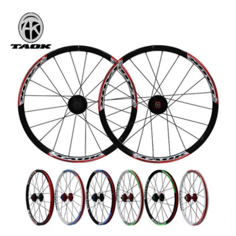 все цены на TAOK mountain wheel group MTB bicycle small wheel folding bike 20 inch 406 wheel set 20 hole wheel disc brake card fly hub