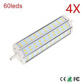 R7S LED Bulb 60leds SMD5730 AC110V/220V Dimmable 189mm LED Lamp Bulb R7S 180 Degree Ceiling light Floodlight High Power 4PCS