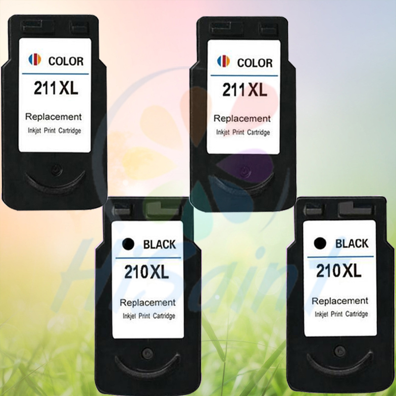 ФОТО Hot sale Ink Cartridges For Canon PG-210 CL-211 (2bks+2cls) For Canon PIXMA IP2700 MP250 MP280 MP480 MP490 MP495 IP2702 MX350