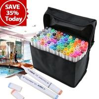 30 40 60 80 168 Colors Art Sketch Marker Pen Fine Broad Double Tips For Artist