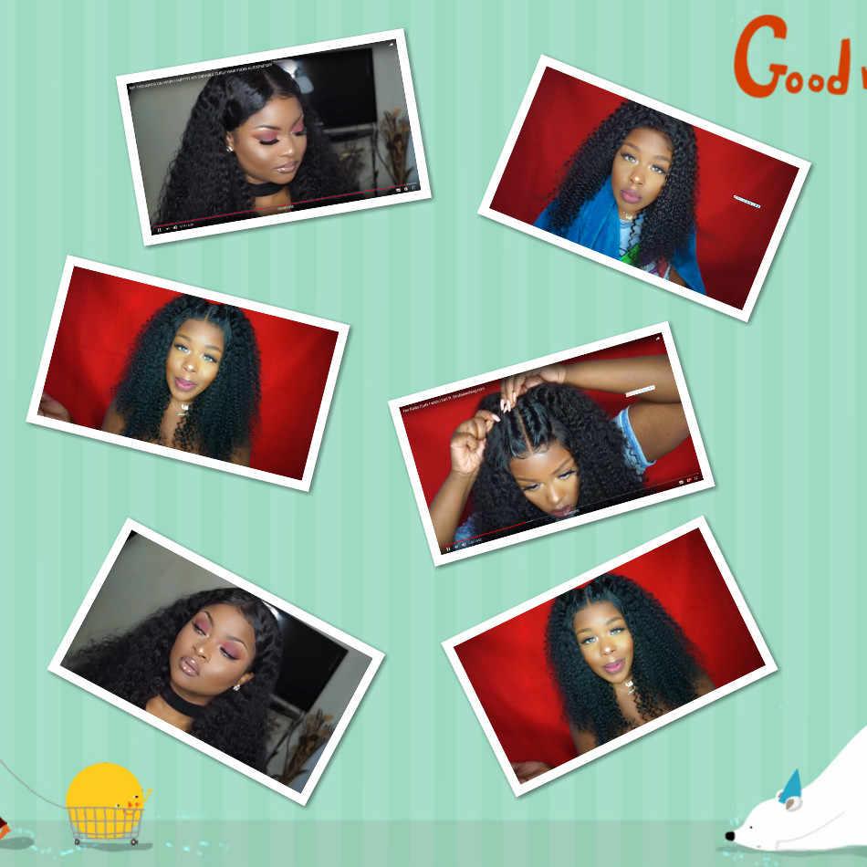 Монгольская причудливая завивка парик Синтетические волосы на кружеве человеческих волос парики предварительно сорвал Iwish парики шнурка для черный Для женщин 150% 180% 13*4 Волосы remy
