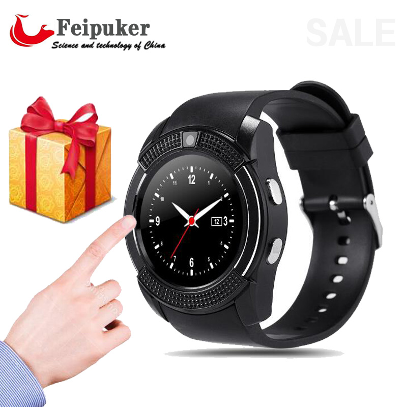 V8 Smart Watch Clock With Sim TF Card Slot Bluetooth Connectivity for Android Phone Smartwatch Watch
