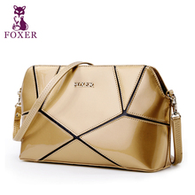 Foxer Famous Brand Top Quality Gold Casual Sac a Main Ladies Bags Leather Bag Women's Shoulder Bags